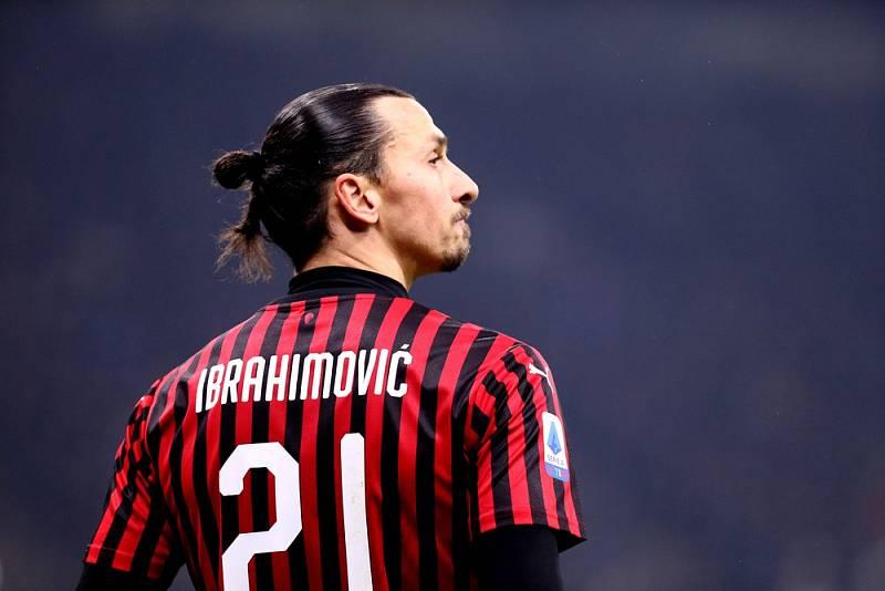 Švédský útočník Zlatan Ibrahimović v dresu AC Milan