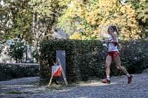 Snímek z finále Světového poháru v orientačním běhu v Praze