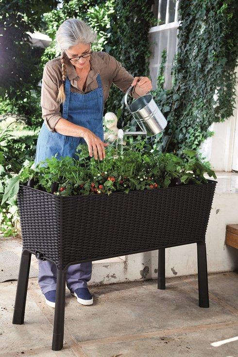 Velmi vhodné a práci ulehčující jsou pro pěstování zeleniny velké samozavlažovací květináče, které pomocí knotů napodobují vzlínání vody ze spodních vrstev tak, jako je tomu ve volné půdě.