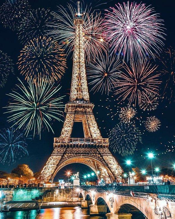 Novoroční oslavy v Paříži