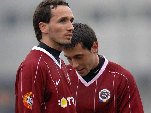 Tomáš Sivok (vlevo) s Miroslavem Slepičkou.