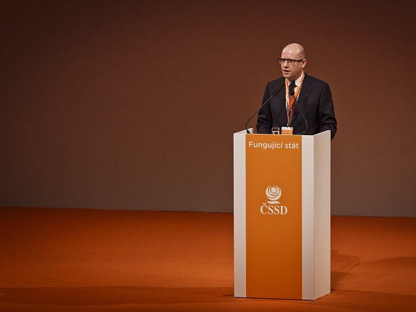 Bohuslav Sobotka při úvodním projevu na 38.sjezdu ČSSD.