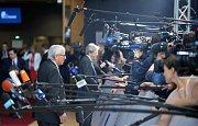 Předseda Evropské komise Jean-Claude Juncker při setkání s novináři v Bruselu po jednání o pravidlech k brexitu