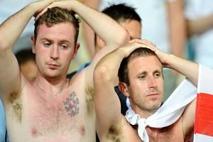Fanoušci Anglie ve čtvrtfinále ME proti Itálii.