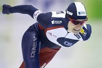 Rychlobruslařka Martina Sáblíková na mistrovství Evropy ve víceboji.