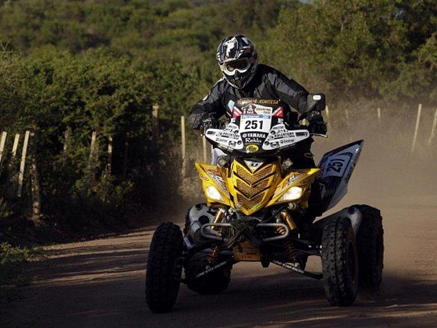 Josef Macháček na yamaze na Rallye Dakar.