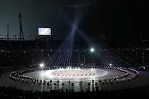 Vizuálně propracované slavnostní zahájení OH v Pchjongčchangu.