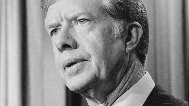 Americký prezident Jimmy Carter v dubnu 1980