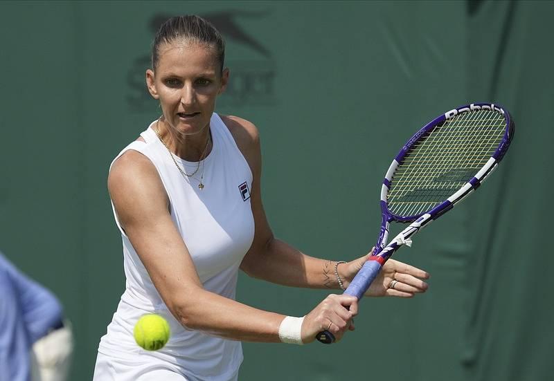 Karolína Plíšková během Wimbledonu.