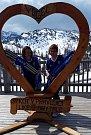 """TJ Sokol Chotětov """"na vrcholu"""". Slovinské Alpy - národní park Triglav - Vogel 1535 metrů nad mořem."""