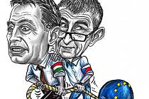Andrej Babiš a Viktor Orbán.