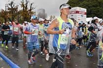 Snímek z maratonu v Kanazawě