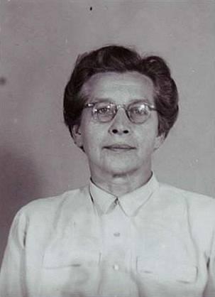 Milada Horáková na identifikační fotografii z vazební věznice
