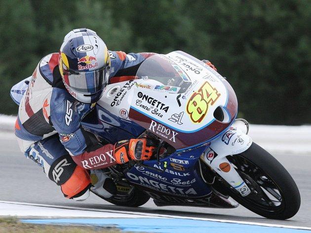 Český jezdec ve třídě Moto3 Jakub Kornfeil.
