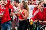 Dánská fanynka. Fotbalové MS Rusko 2018