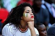 Nigerijská fanynka. Fotbalové MS Rusko 2018