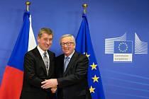 Andrej Babiš a Jean-Claude Juncker