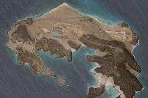 Satelitní snímky ostrova Mayun
