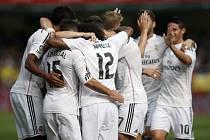 Real Madrid slaví gól, jenž dal Luka Modrič