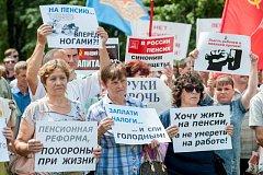 Nechceme zemřít v práci. Rusové demonstrují proti zvýšení věku pro odchod do důchodu