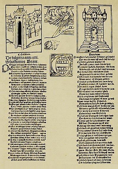 Dobový záznam o pádu meteoritu v roce 1492. V té době byl pád vesmírného kamenného tělesa považován za nadpřirozený jev. Meteorit byl proto přikován na řetěz ke kostelu