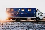 Servisní kamion české reprezentace běžců na lyžích
