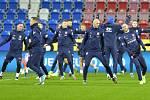 Trénink české fotbalové reprezentace 13. listopadu 2019 v Plzni před zápasem kvalifikace mistrovství Evropy s Kosovem