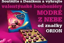 Soutěžte s Deníkem a vyhrajte valentýnské bonboniéry MODRÉ Z NEBE od značky ORION.