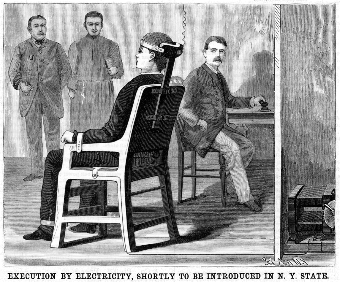 """Reklama"" na popravy elektřinou z amerického magazínu Scientific American (30. červen 1888)"
