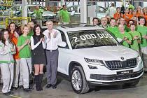 Automobilka Škoda už v Kvasinách vyrobila dva miliony vozů.
