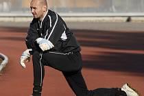 Brankář Slavie Michal Vorel si musel na svou šanci počkat.