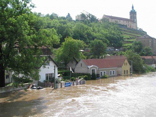 Záplavy v červnu 2013 na Mělníku.