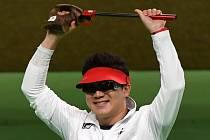 Čing Čong-o se stal potřetí za sebou olympijským vítězem ve střelbě z libovolné pistole.