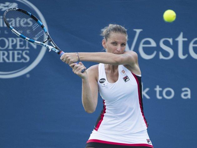 Karolína Plíšková na turnaji v Cincinnati.
