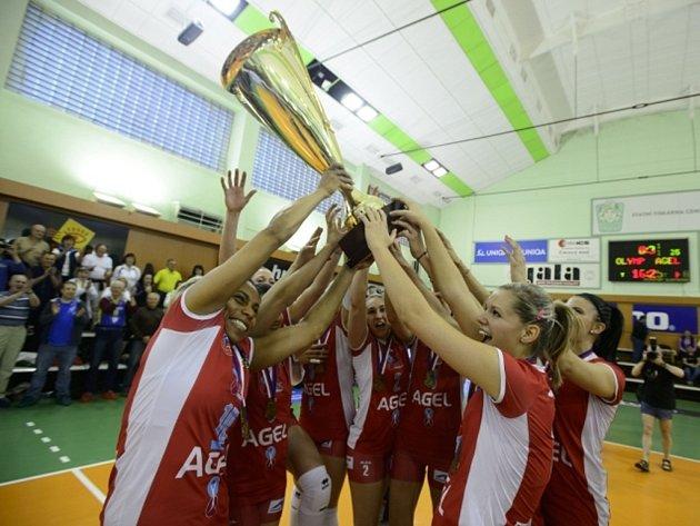 Volejbalistky Prostějova získaly šestý mistrovský titul v řadě.