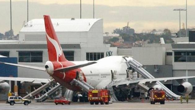 Letadlo společnosti Quantas. Ilustrační foto