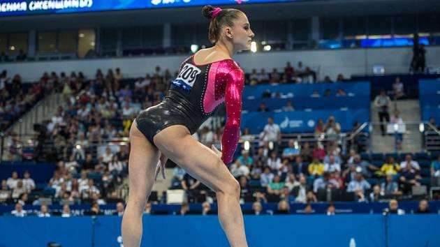 Sportovní gymnastka Aneta Holasová získala 30. června 2019 na závěr Evropských her v Minsku stříbro v prostných.