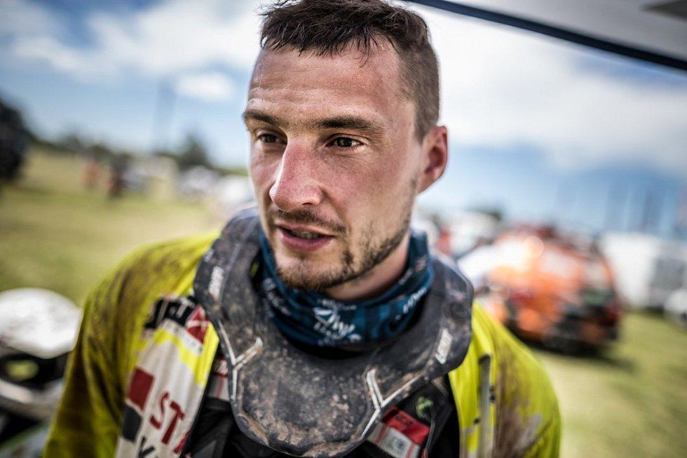 Ondřej Klymčiw na rallye Dakar