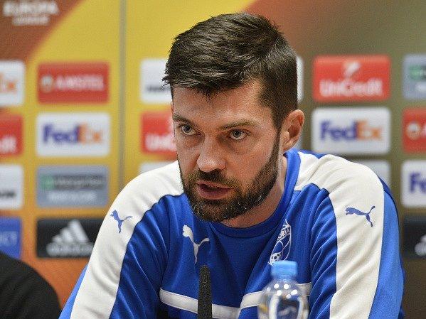 Plzeňský brankář Matúš Kozáčik.
