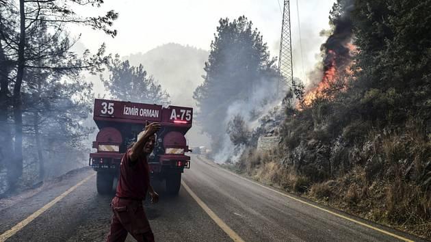 Lesní požáry v Turecku
