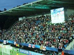 Nejlépe byl v úvodu šampionátu zaplněný nejmenší stadion na Slovácku při zápase Anglie - Portugalsko