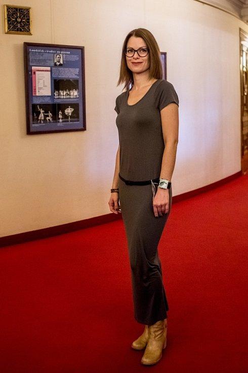 Nominovaní na herecké ceny Thálie byli představeni novinářům 3. února v pražském Národním divadle.  Hana Holišová.