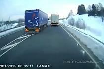 Český kamion v Bavorsku.
