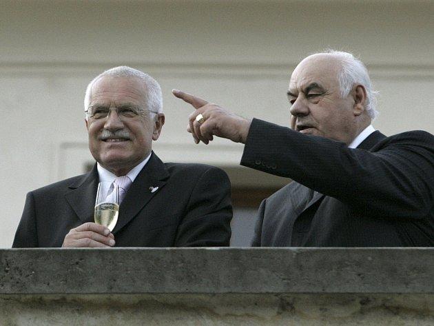 Český prezident Václav Klaus a Albánský prezident Alfred Moisiu