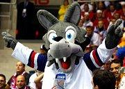 Maskot hokejového mistrovství světa 2011 na Slovensku - vlk Gooly