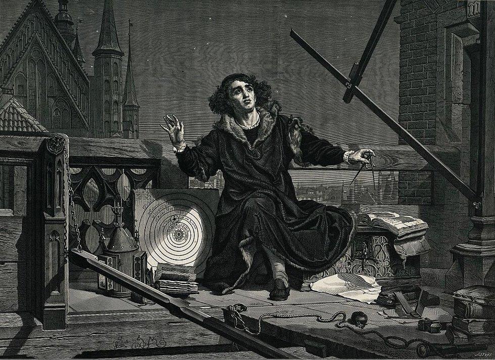 Mikoláš Kopernik na romantickém plátně Jana Matejka z roku 1876