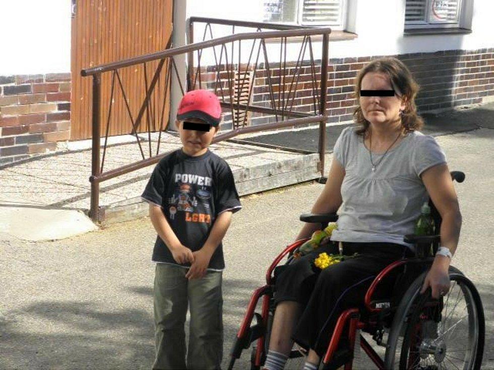 Monika S. se synem Patrikem.