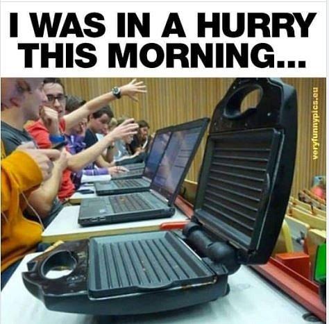 Dnes ráno jsem hodně spěchal…