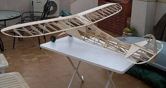konstrukce modelu před potažením