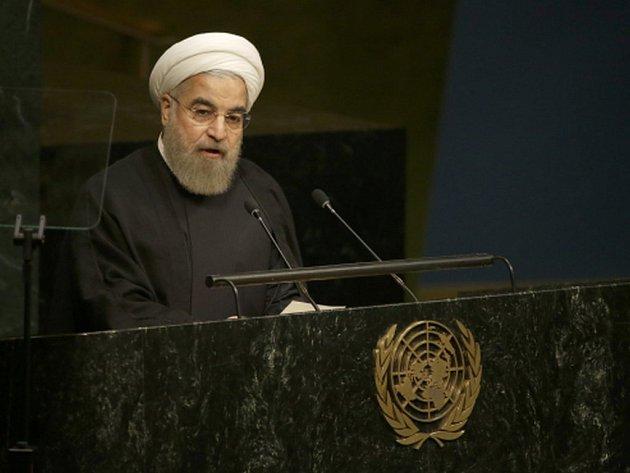 Íránský prezident Hasan Rúhání na půdě Valného shromáždění OSN